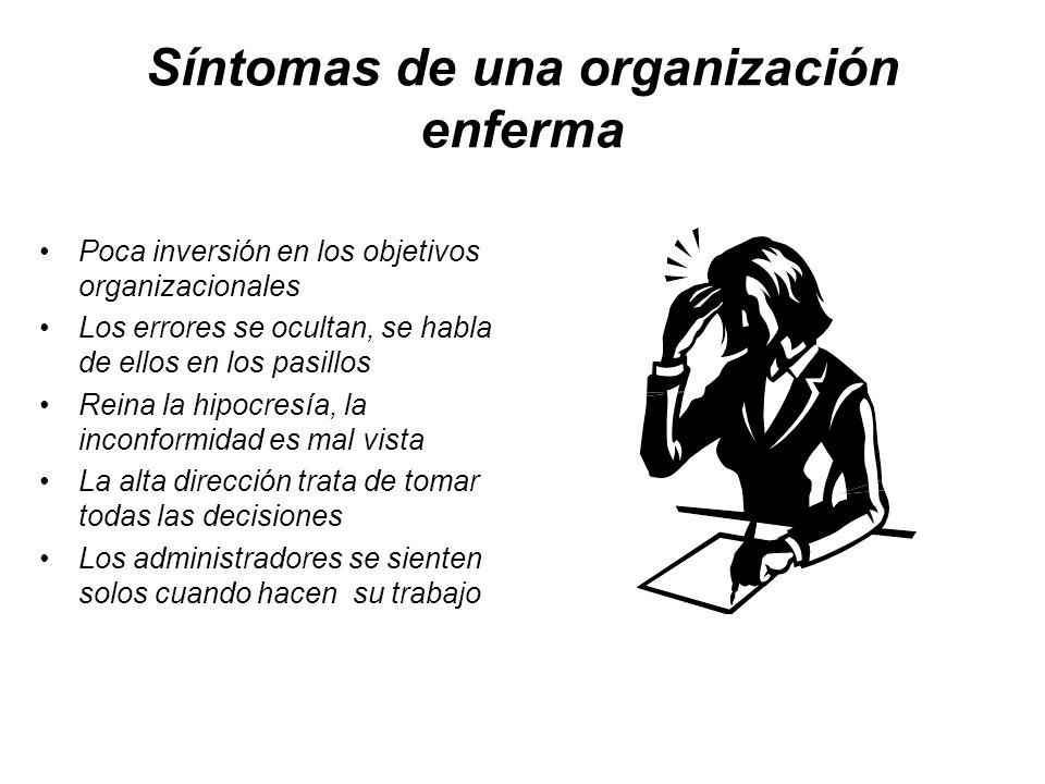 Síntomas de una organización enferma