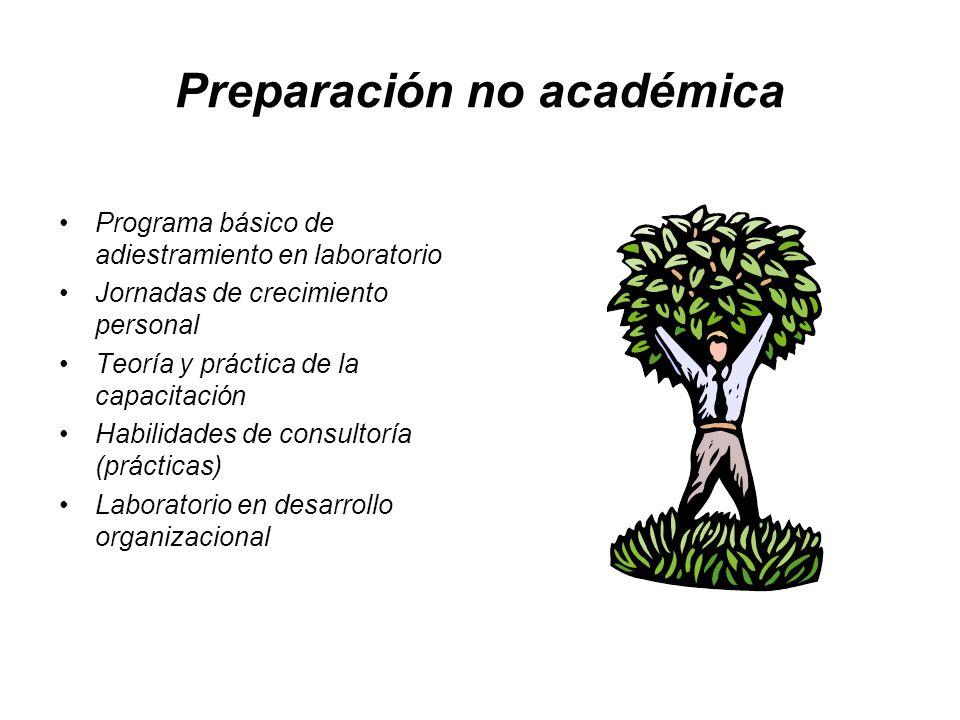 Preparación no académica
