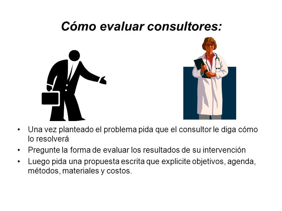 Cómo evaluar consultores: