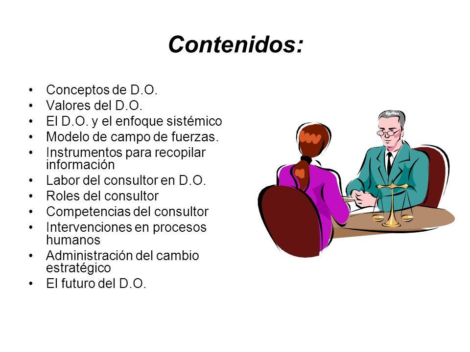 Contenidos: Conceptos de D.O. Valores del D.O.