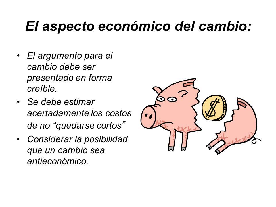 El aspecto económico del cambio: