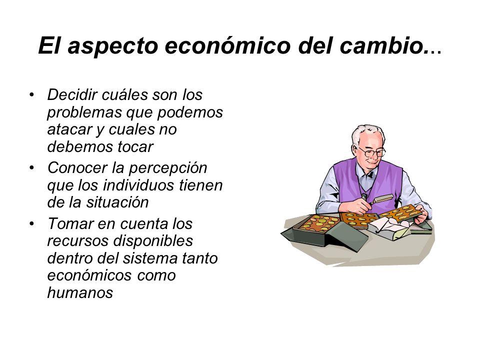 El aspecto económico del cambio...