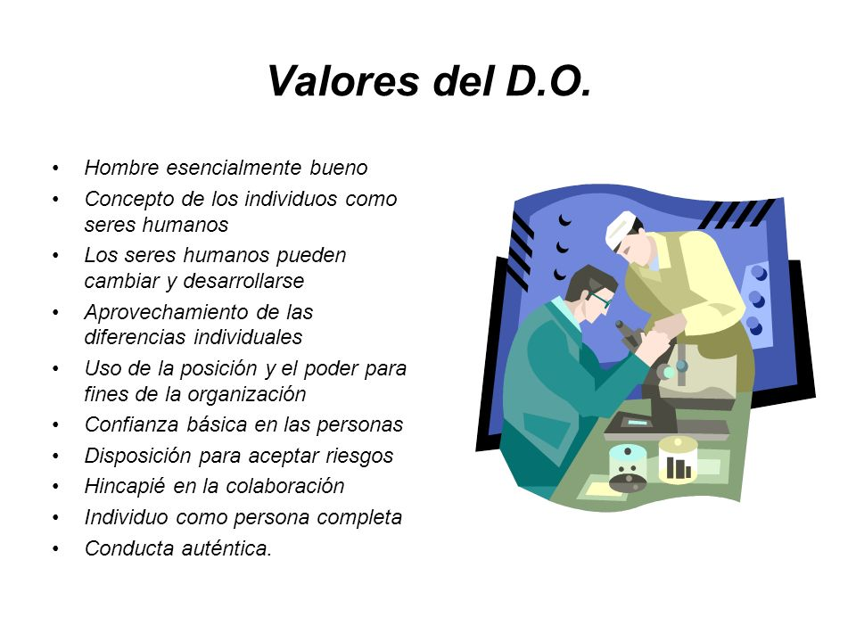 Valores del D.O. Hombre esencialmente bueno