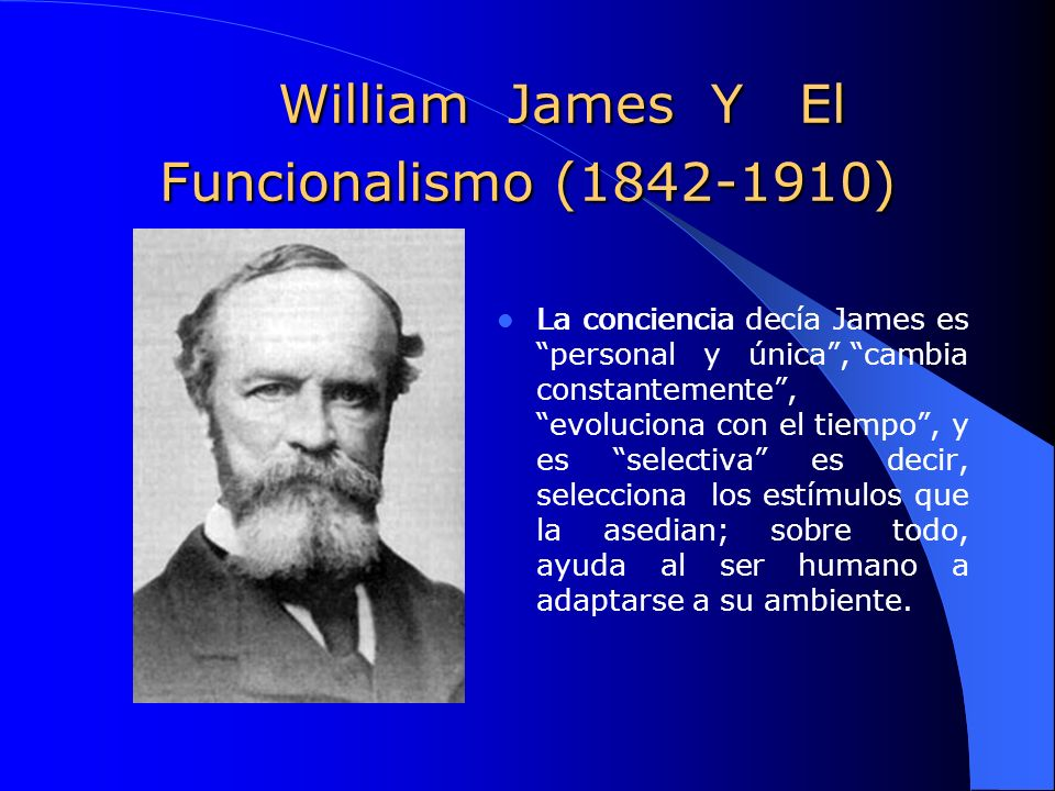 William James Y El Funcionalismo (1842-1910)