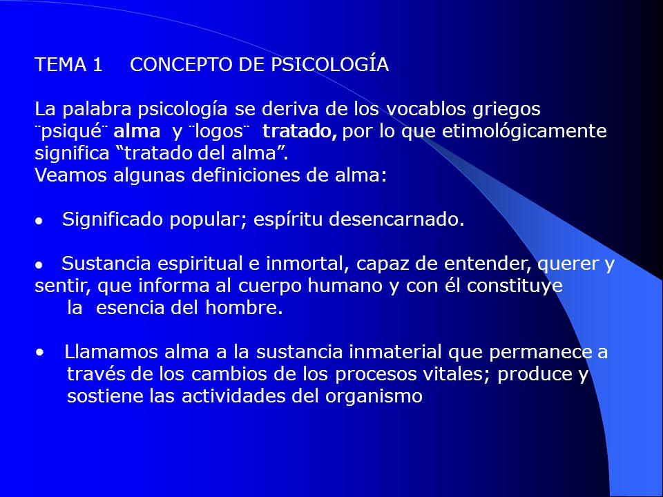 TEMA 1 CONCEPTO DE PSICOLOGÍA