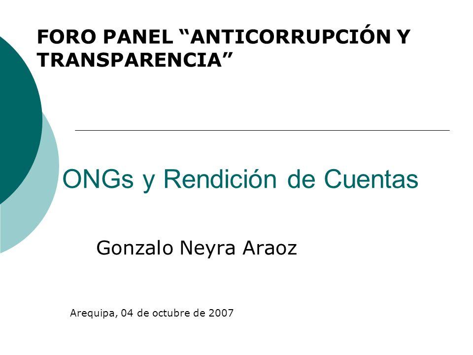 ONGs y Rendición de Cuentas