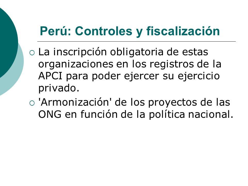 Perú: Controles y fiscalización