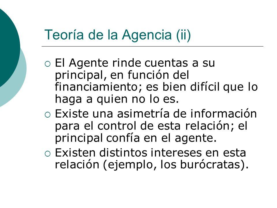 Teoría de la Agencia (ii)