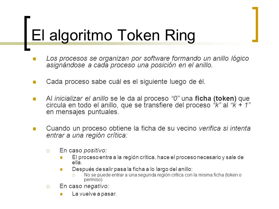 El algoritmo Token Ring