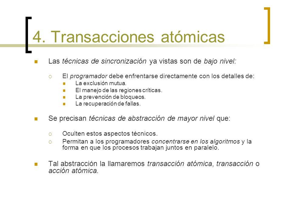 4. Transacciones atómicas