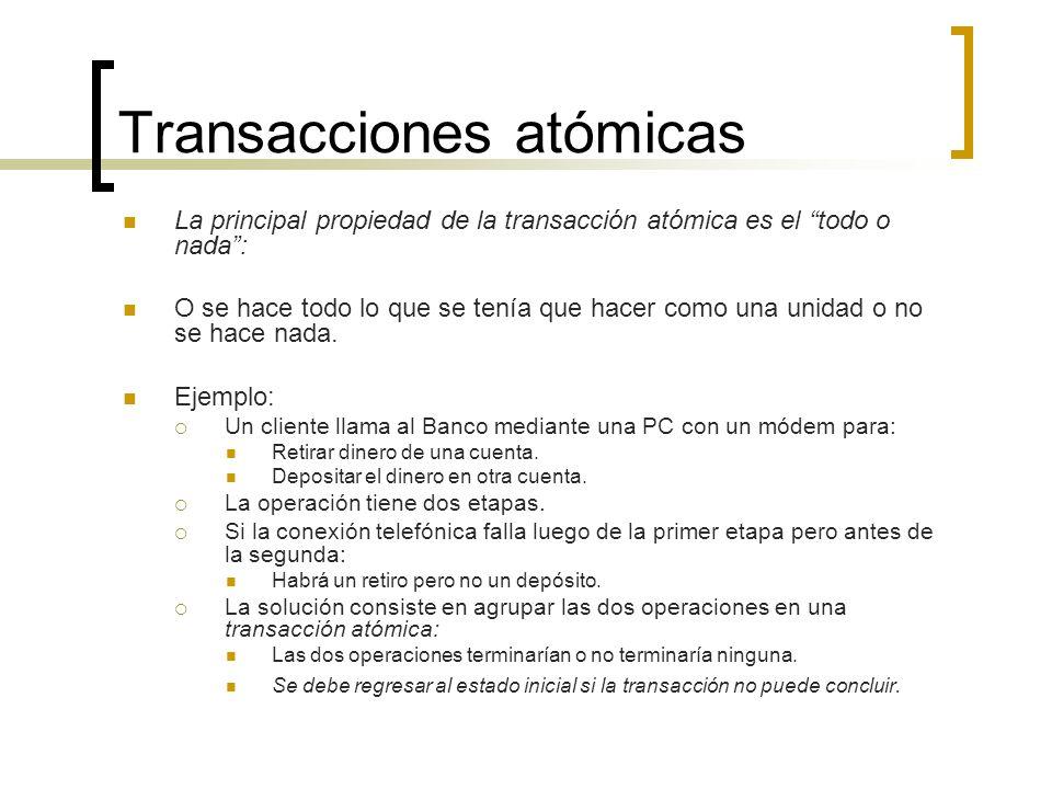 Transacciones atómicas