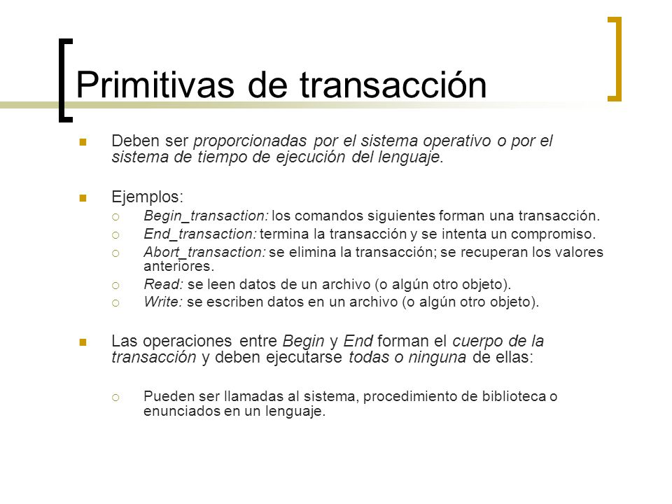 Primitivas de transacción