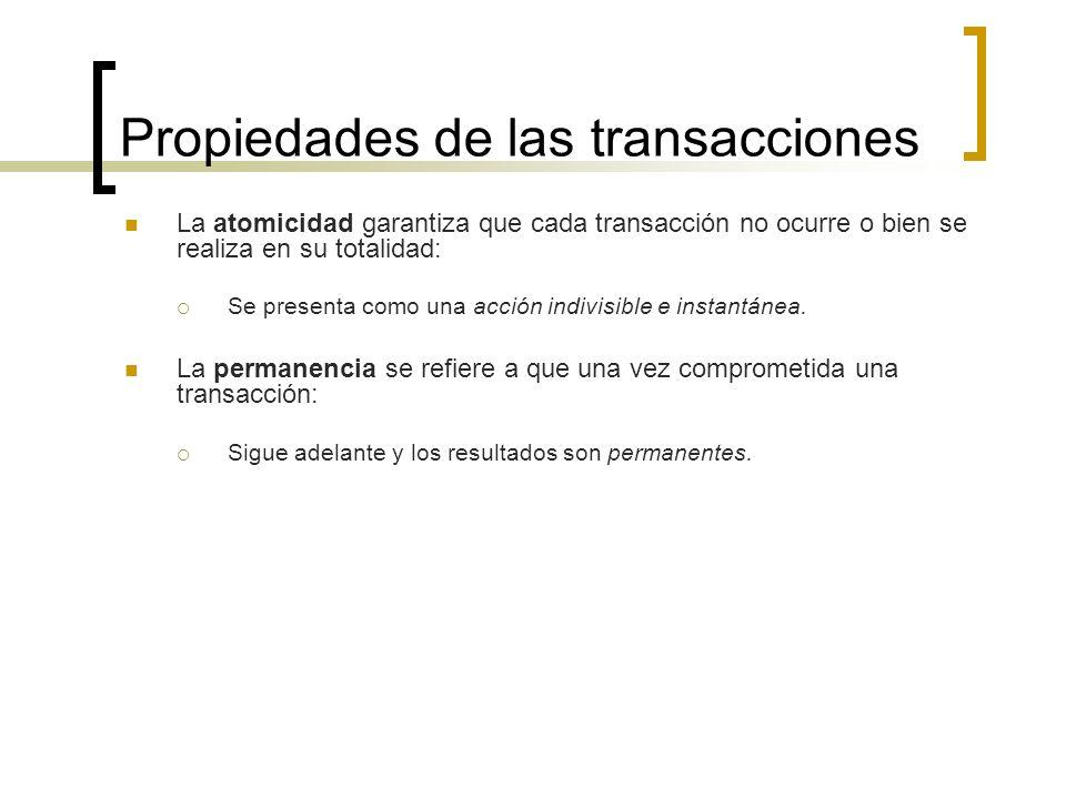 Propiedades de las transacciones