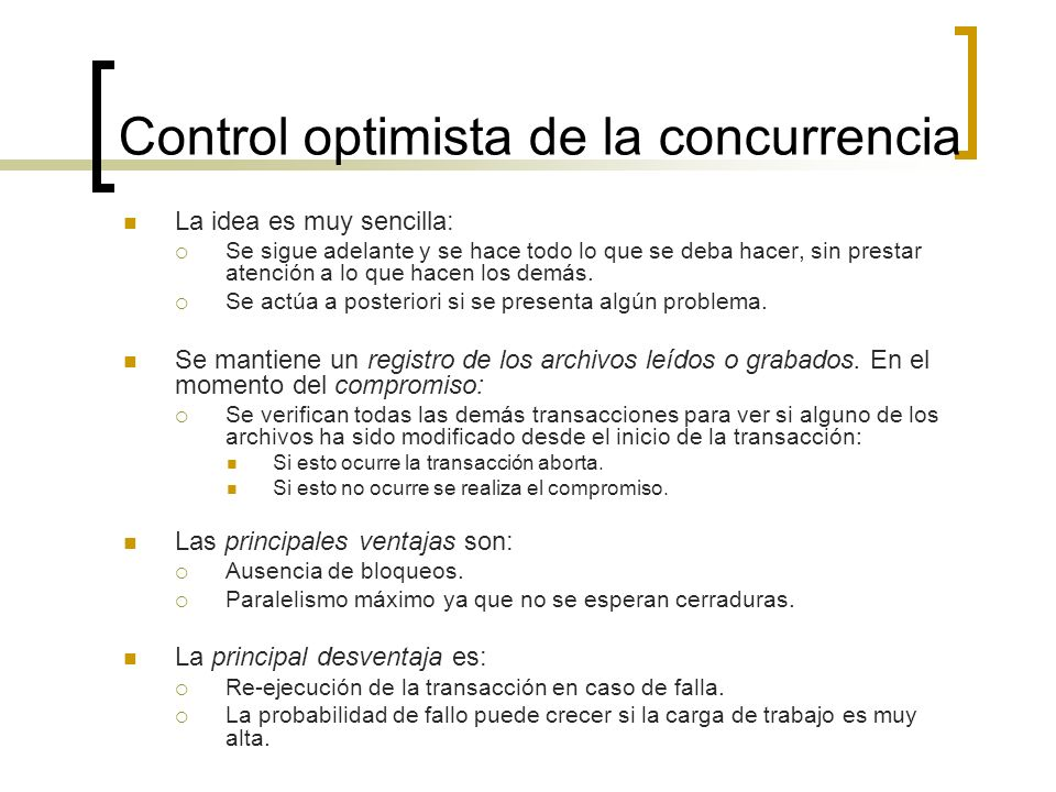 Control optimista de la concurrencia