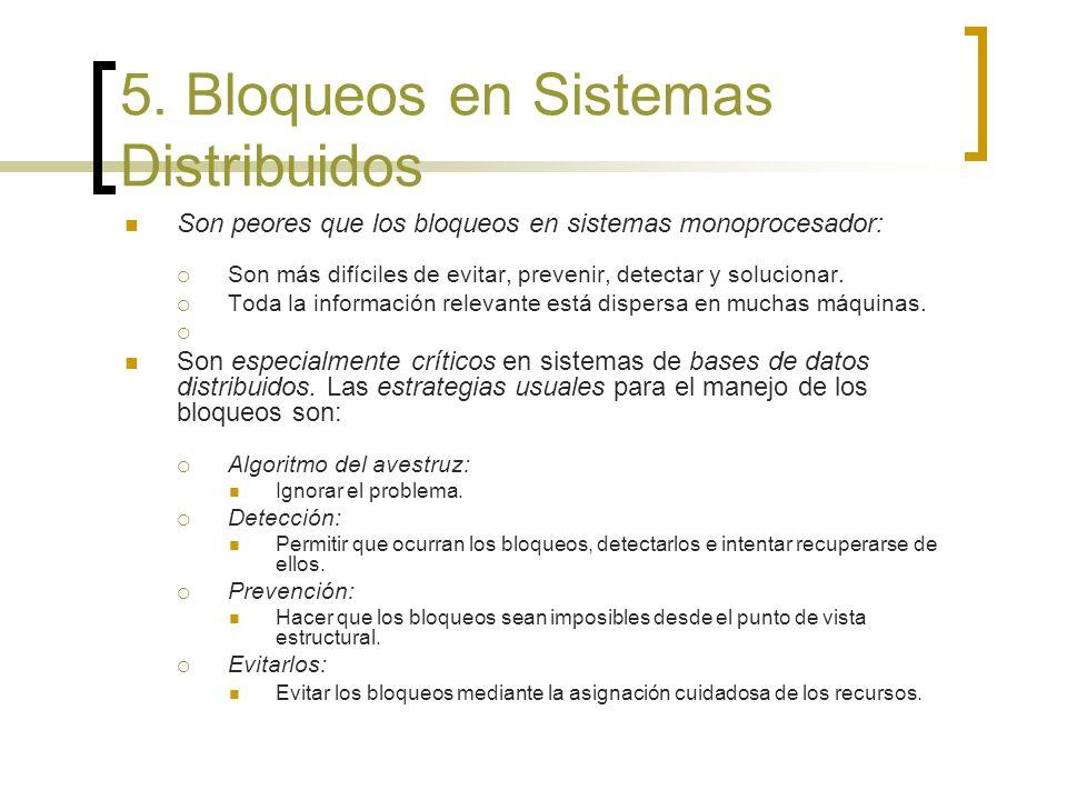 5. Bloqueos en Sistemas Distribuidos