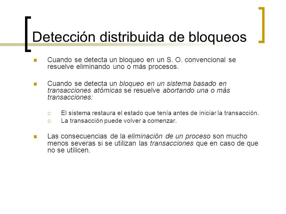 Detección distribuida de bloqueos