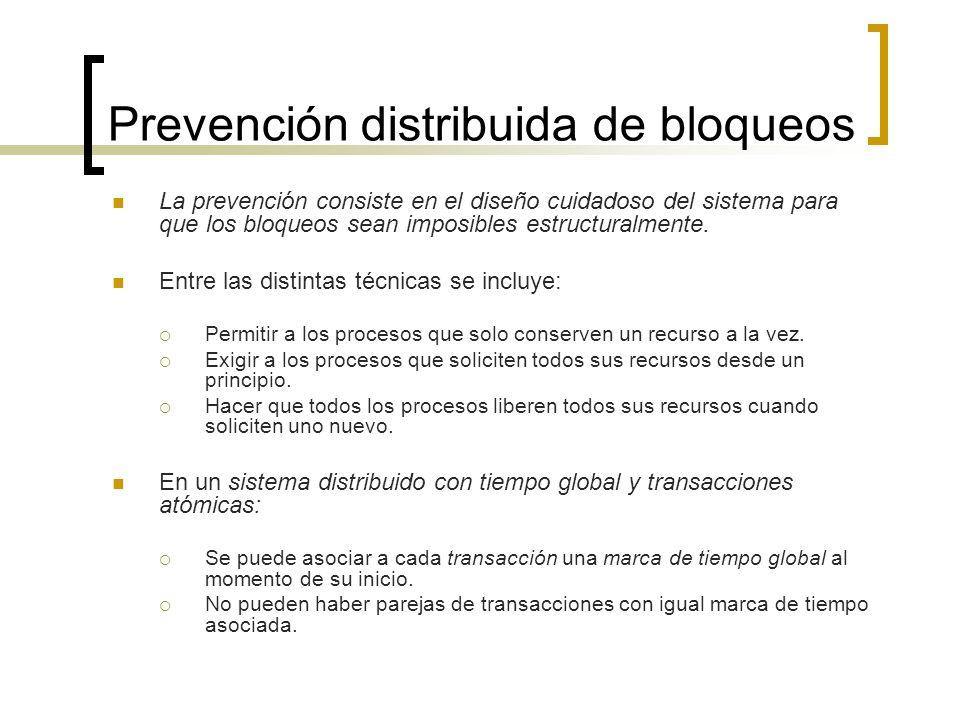Prevención distribuida de bloqueos