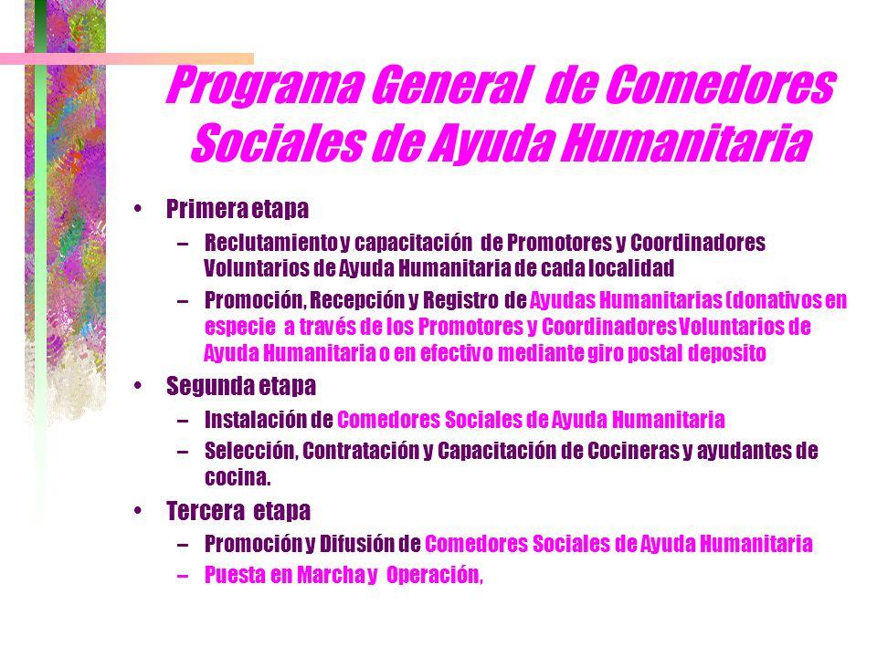 Programa General de Comedores Sociales de Ayuda Humanitaria