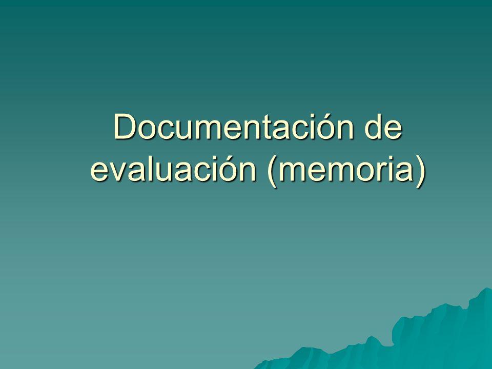 Documentación de evaluación (memoria)