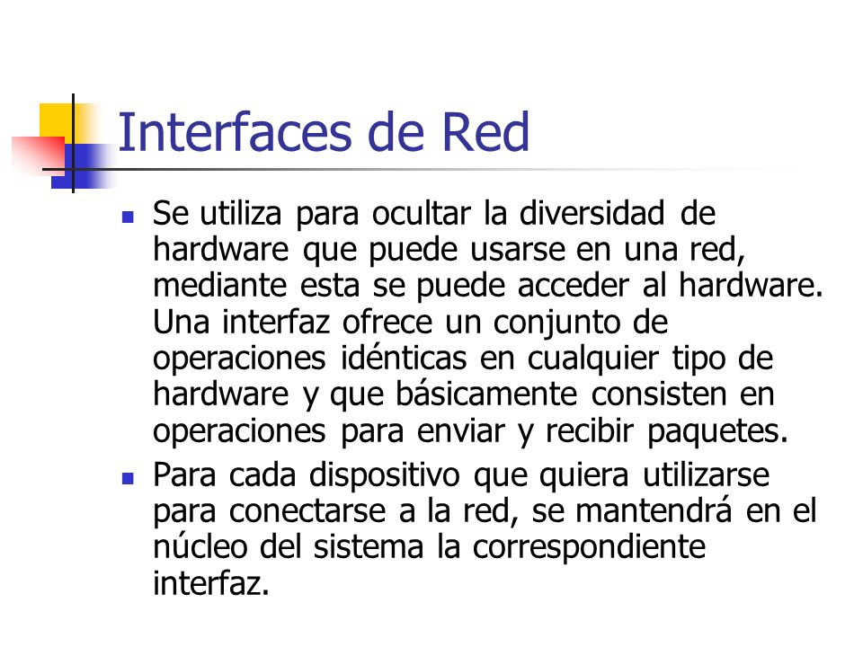 Interfaces de Red