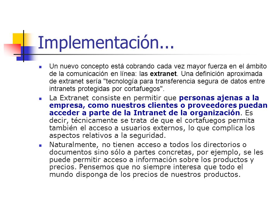 Implementación...