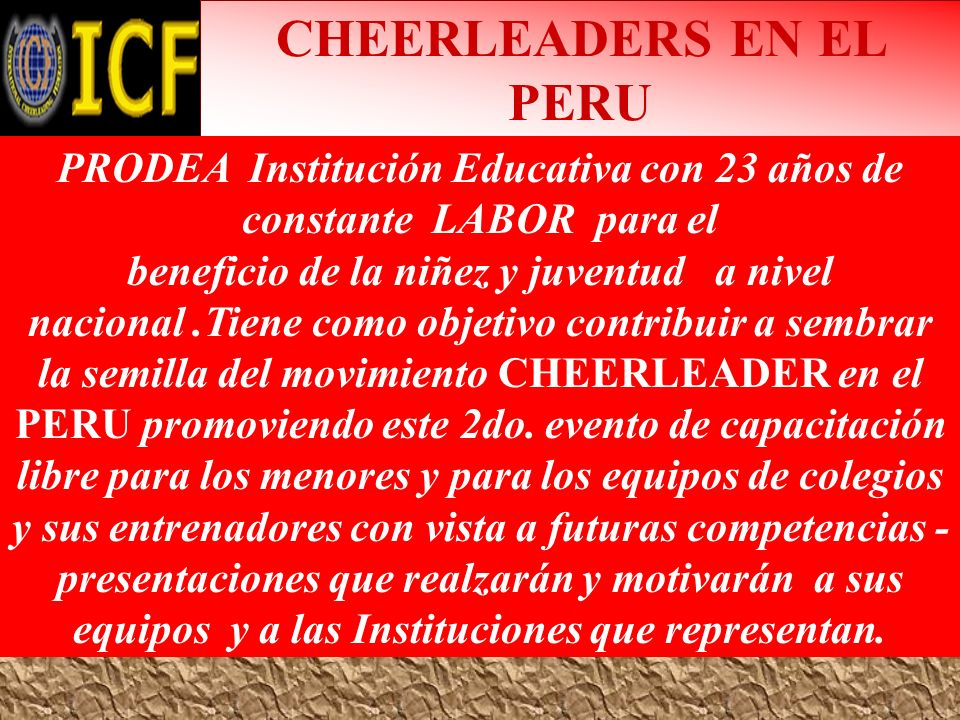 CHEERLEADERS EN EL PERU