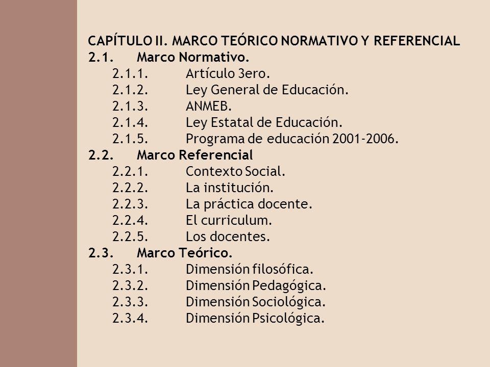 CAPÍTULO II. MARCO TEÓRICO NORMATIVO Y REFERENCIAL