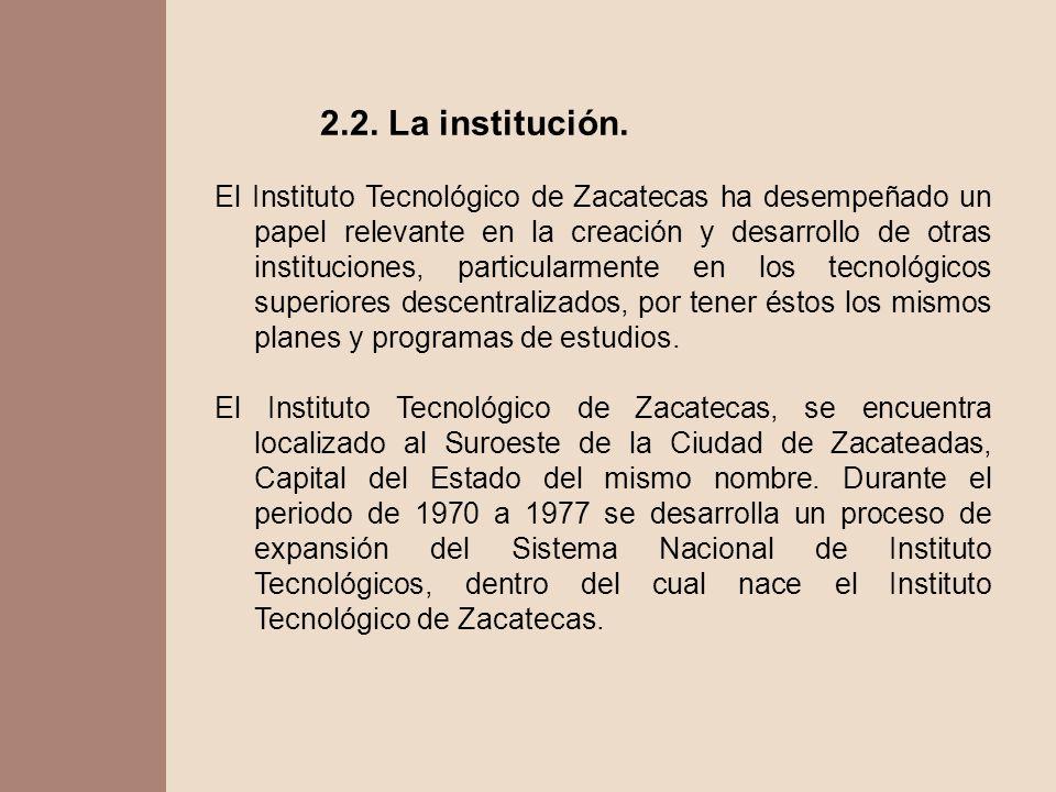 2.2. La institución.