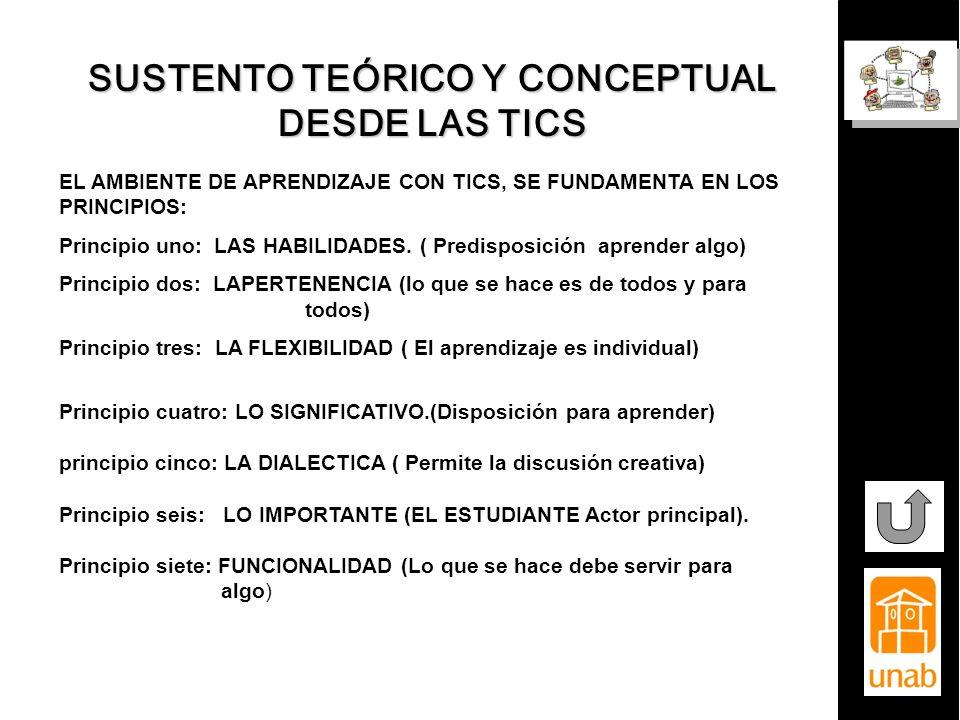 SUSTENTO TEÓRICO Y CONCEPTUAL DESDE LAS TICS