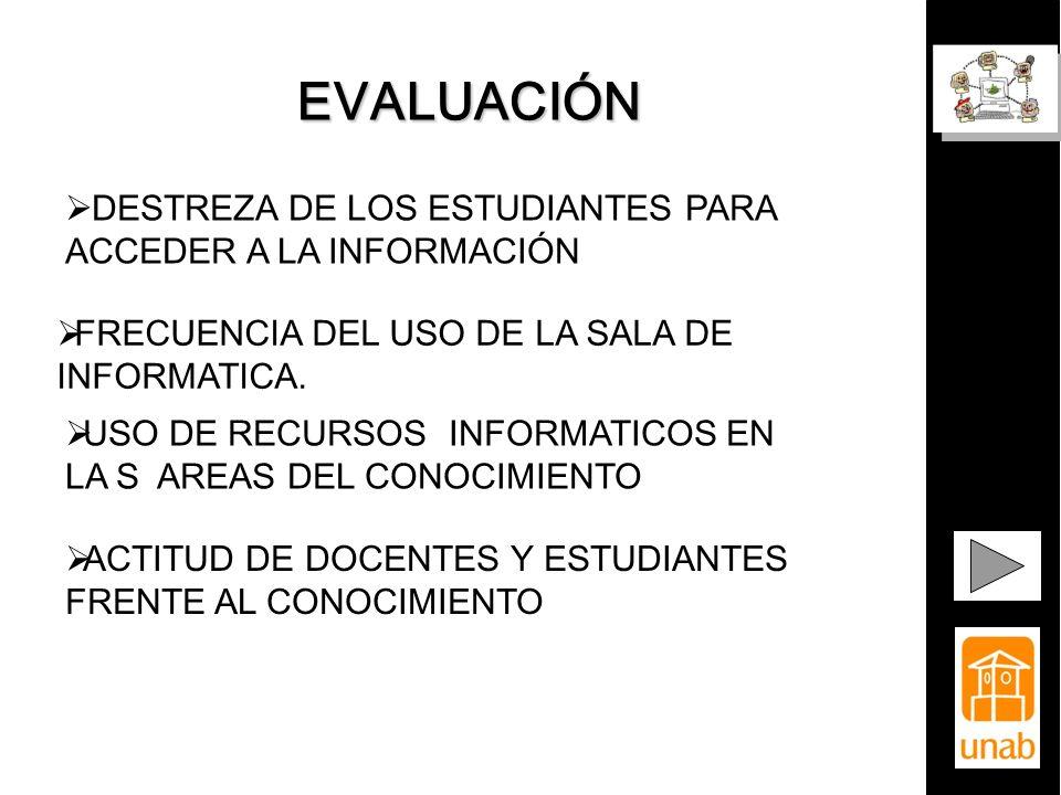 EVALUACIÓN DESTREZA DE LOS ESTUDIANTES PARA ACCEDER A LA INFORMACIÓN