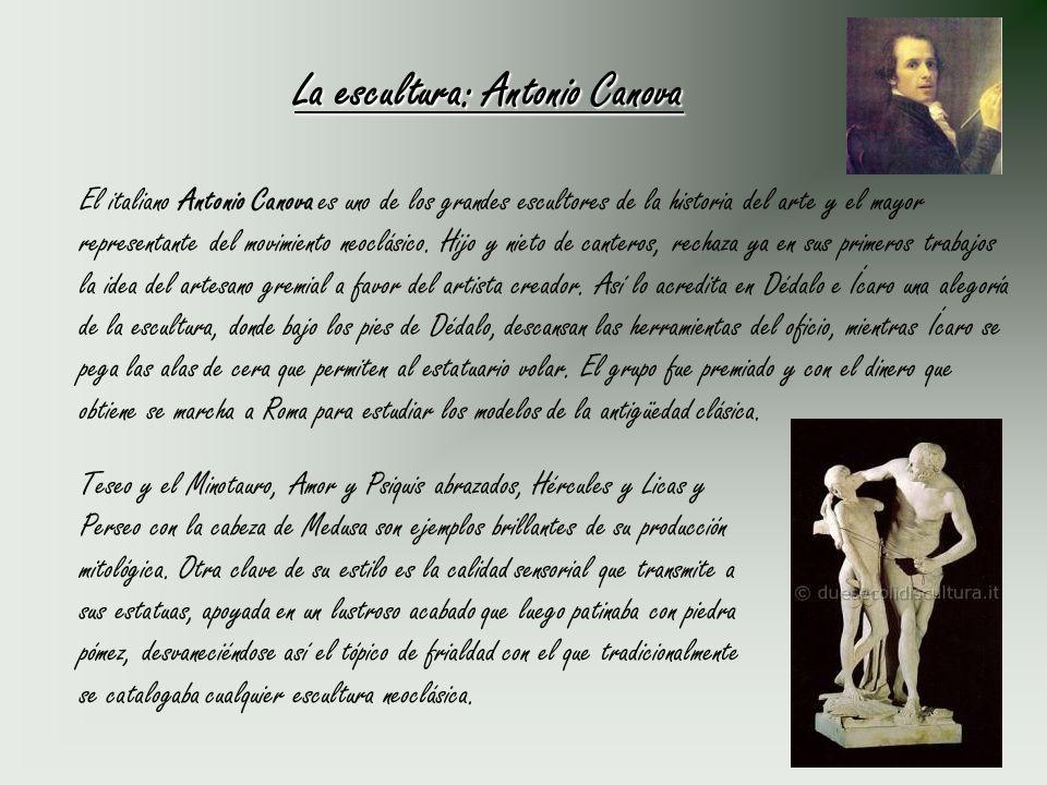 La escultura: Antonio Canova