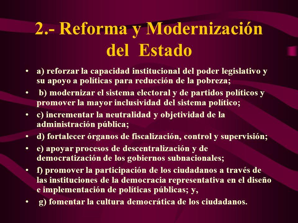 2.- Reforma y Modernización del Estado