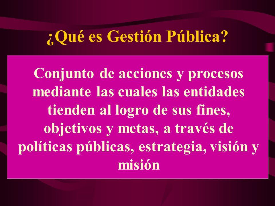 ¿Qué es Gestión Pública