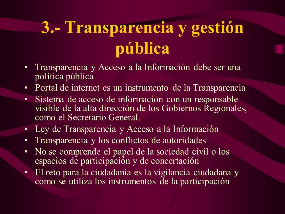 3.- Transparencia y gestión pública