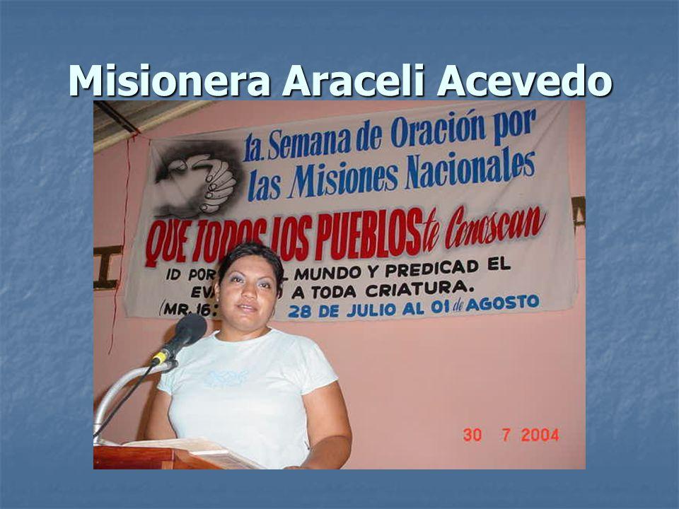 Misionera Araceli Acevedo