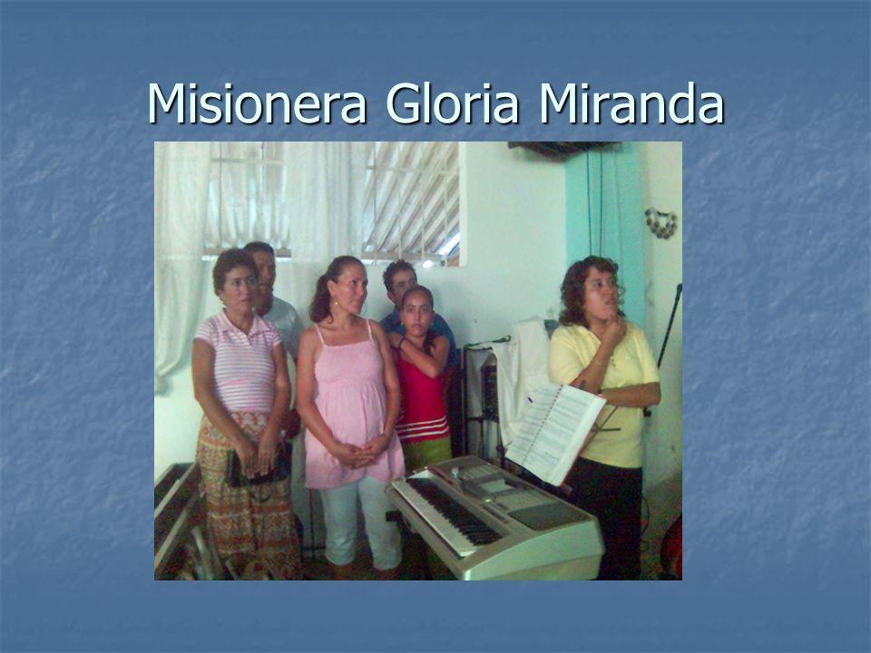 Misionera Gloria Miranda