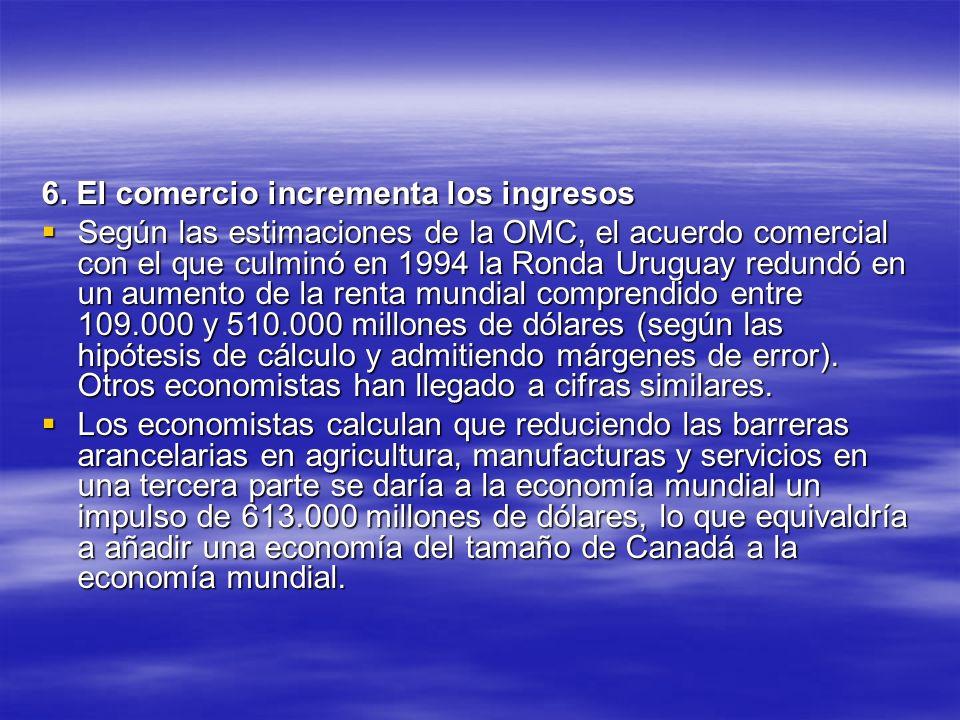 6. El comercio incrementa los ingresos