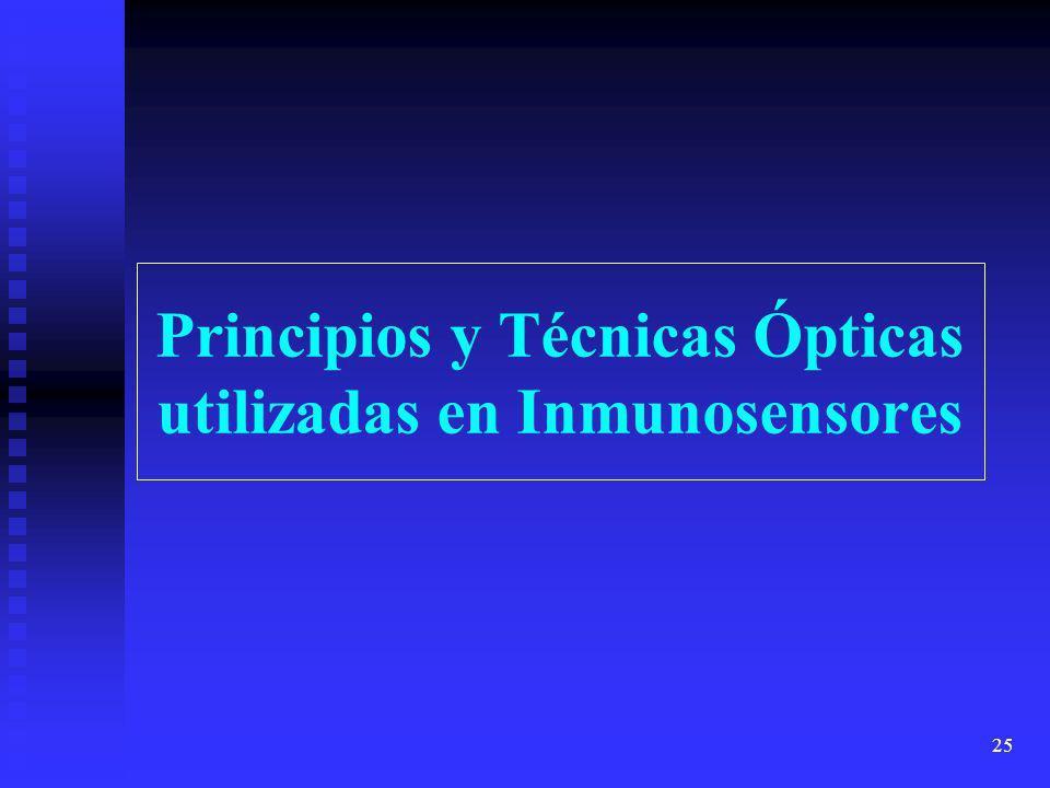 Principios y Técnicas Ópticas utilizadas en Inmunosensores