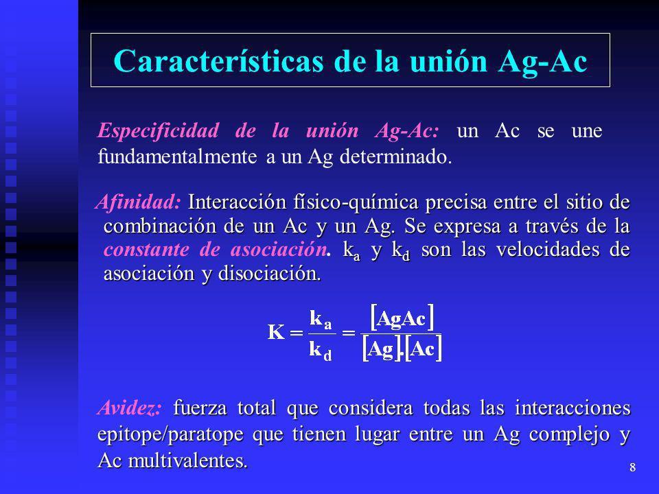 Características de la unión Ag-Ac