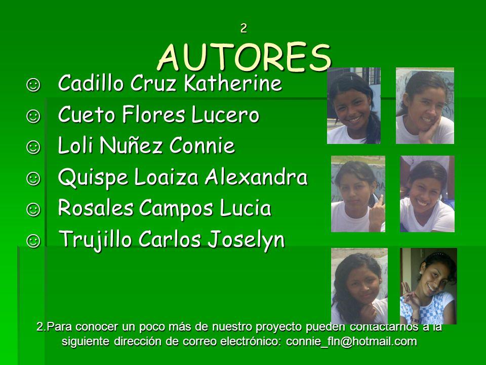 Cadillo Cruz Katherine Cueto Flores Lucero Loli Nuñez Connie