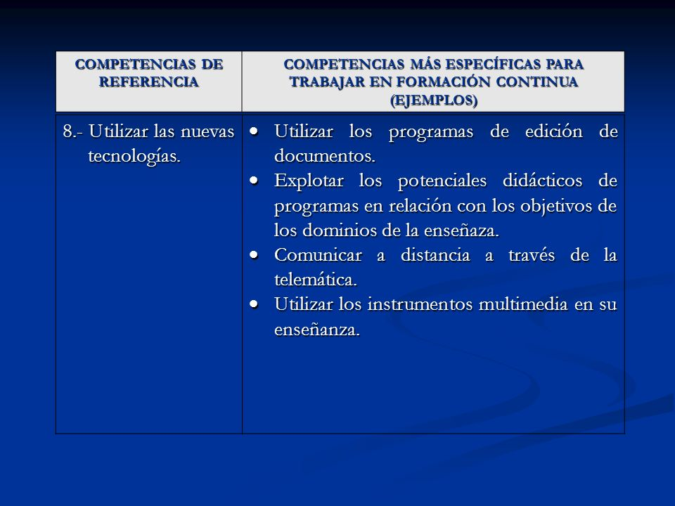 COMPETENCIAS DE REFERENCIA