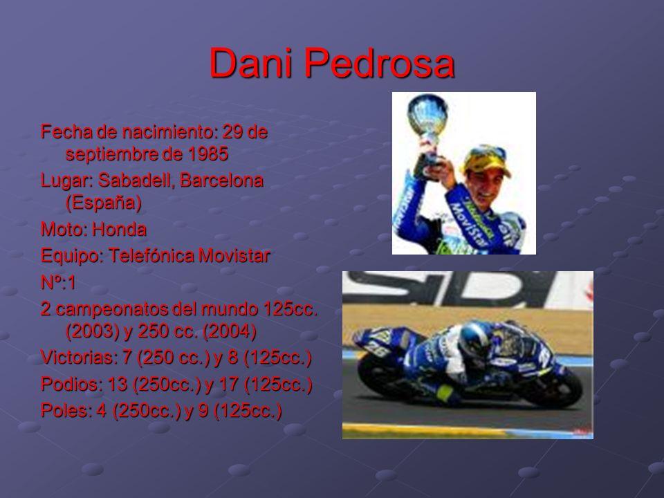 Dani Pedrosa Fecha de nacimiento: 29 de septiembre de 1985