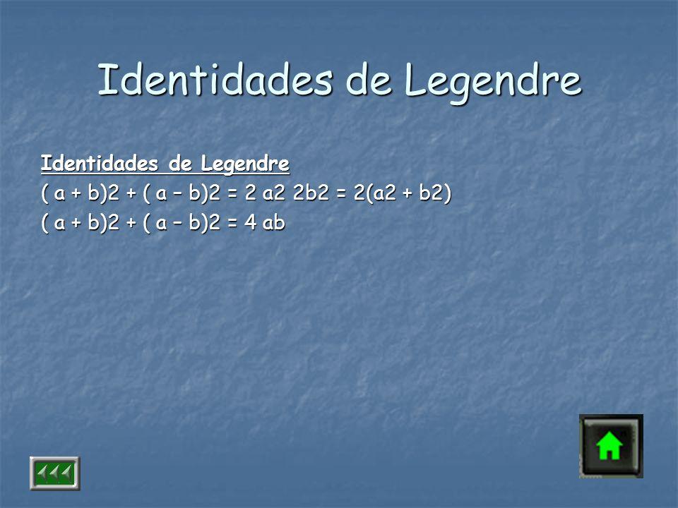 Identidades de Legendre