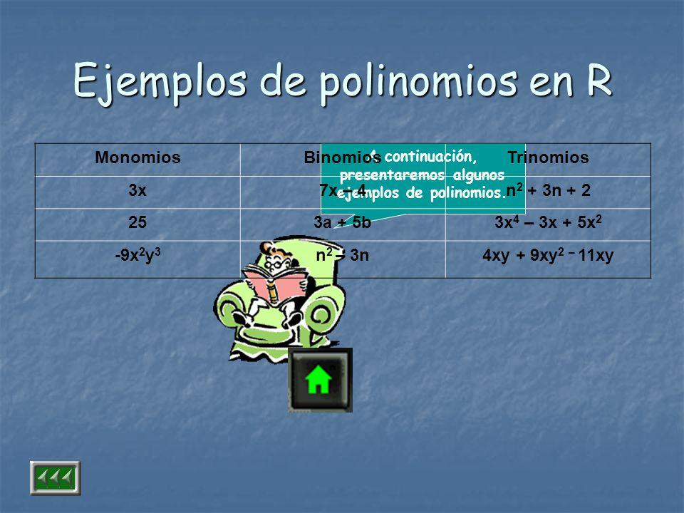 Ejemplos de polinomios en R