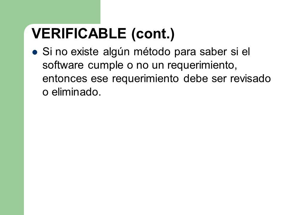 VERIFICABLE (cont.)