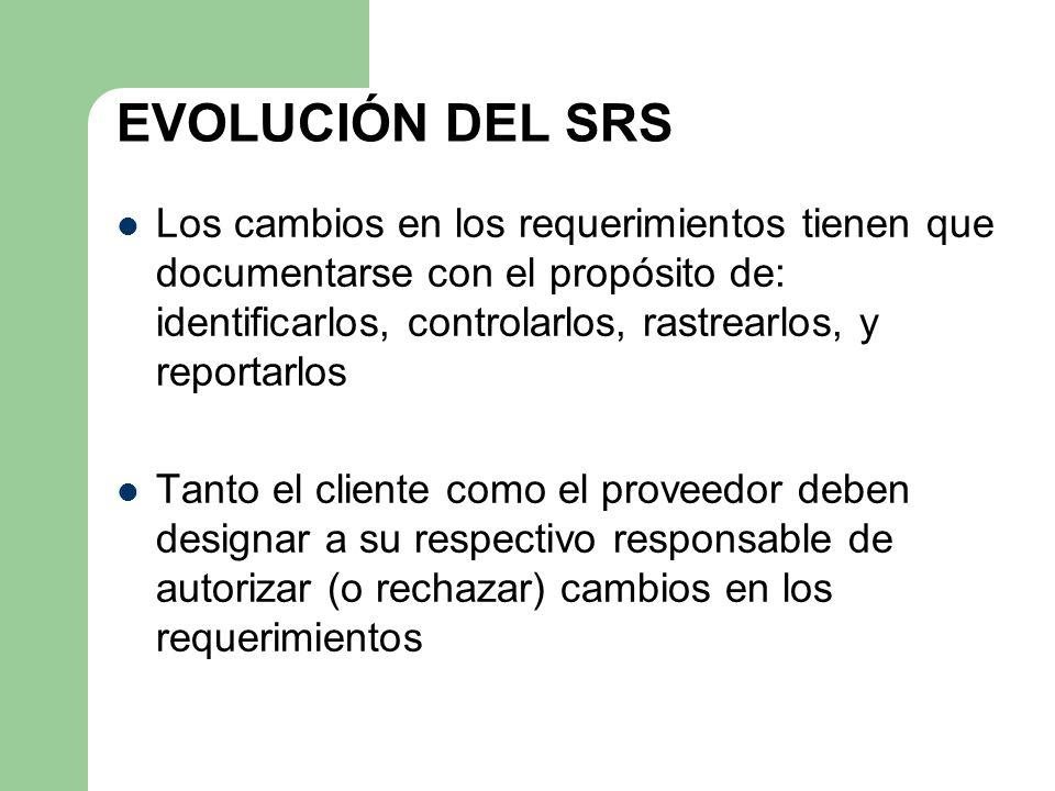 EVOLUCIÓN DEL SRS