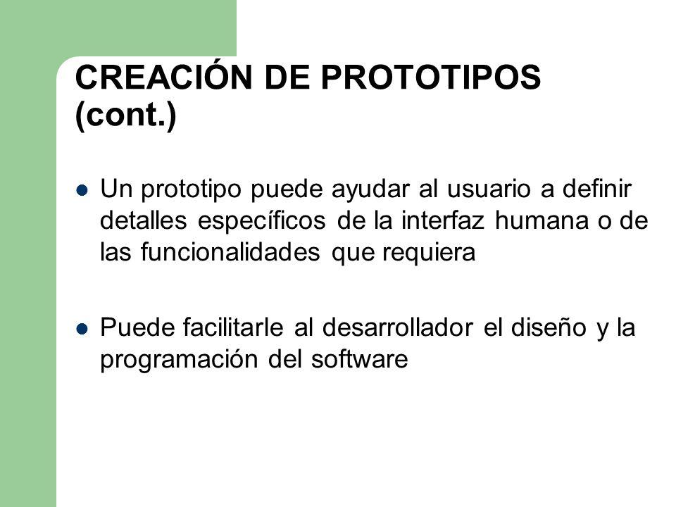 CREACIÓN DE PROTOTIPOS (cont.)