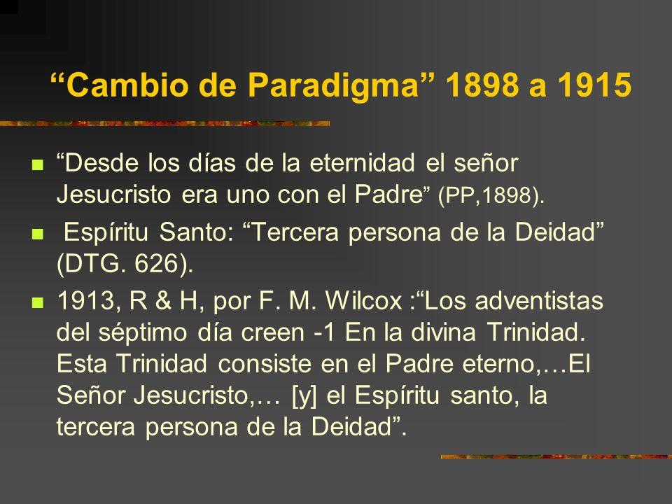 Cambio de Paradigma 1898 a 1915