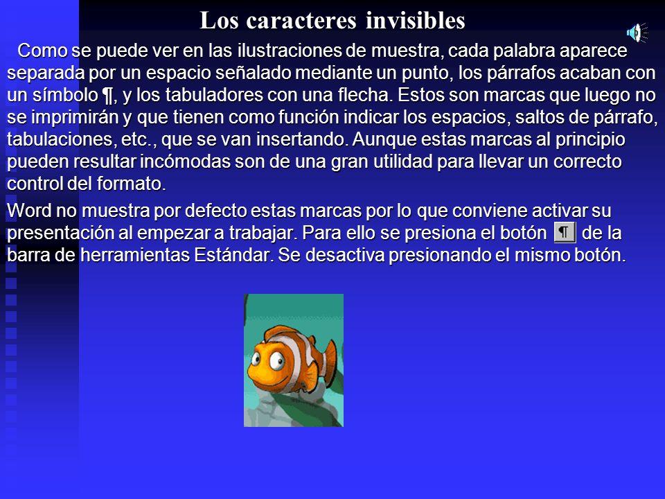 Los caracteres invisibles