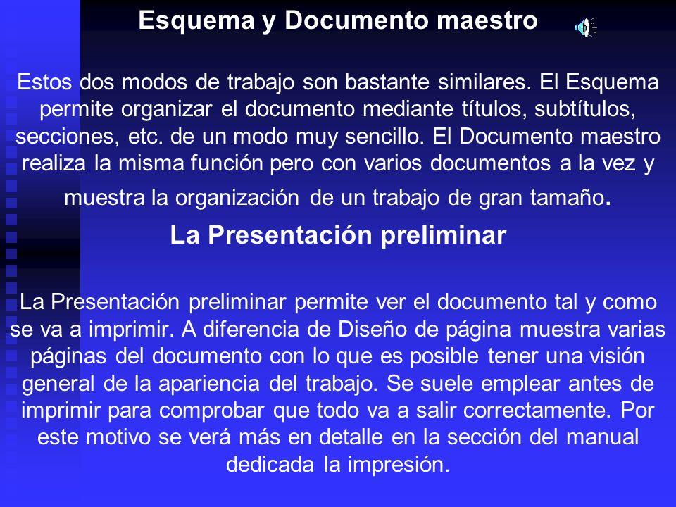 Esquema y Documento maestro